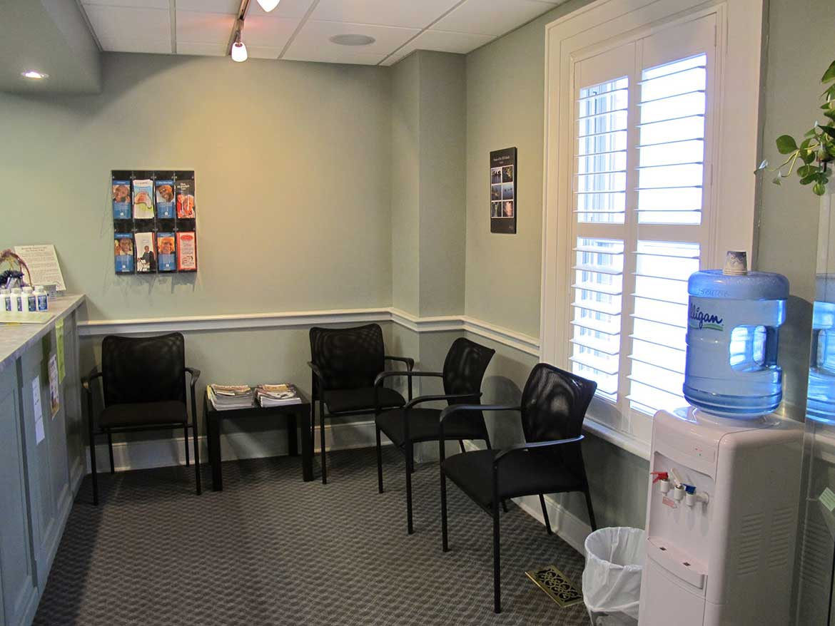 waiting room Brockville Denture Clinic